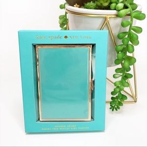 KATE SPADE NEW Folding Picture Frame Aqua NIB